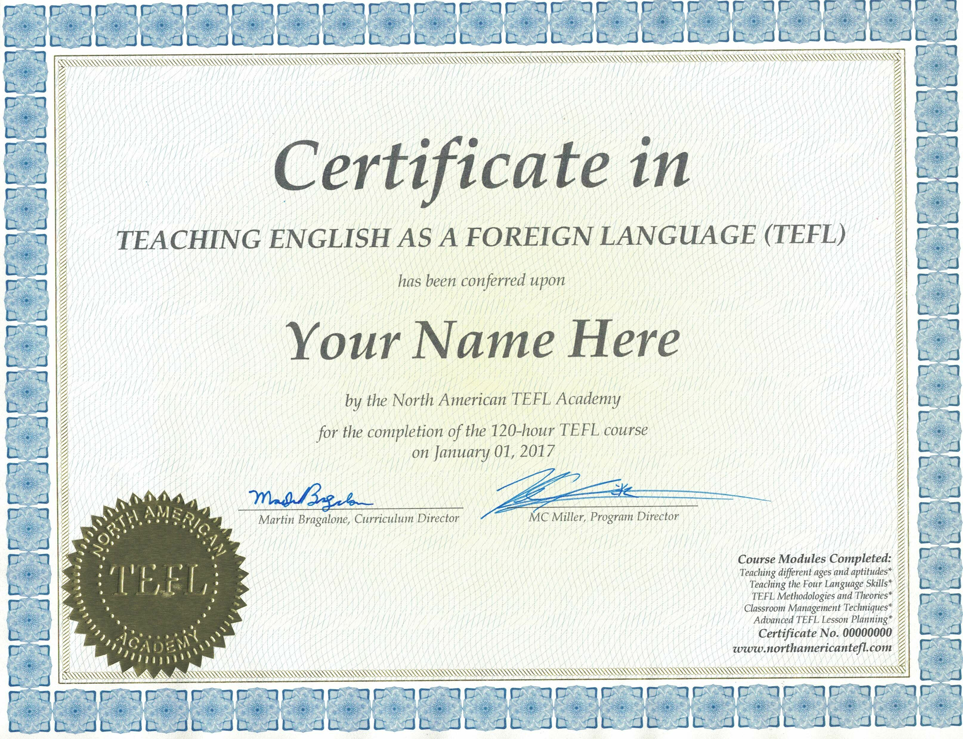 tefl certificate hour physical sample north shipped academy